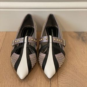 Zara Limited Edition Studded Kitten Heels